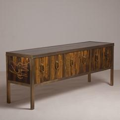 A Bernhard Rohne Acid Etched Buffet for Mastercraft 1970s