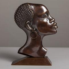 A Bronze Bust in the manner of Hagenauer 1950s