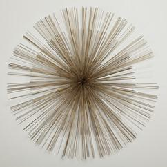 A Bronze Metal Starburst Wall Sculpture by Curtis Jere 1987