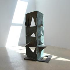 A Bronze Sculpture titled Comparison by Toni Fabris circa 1972