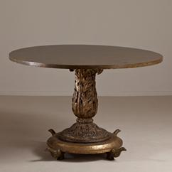 A Giacometti Inspired Simulated Marble Centre Table 1960s