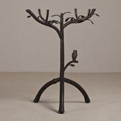 A Giacometti Inspired Simulated Tree Side Table 1980s