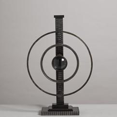 A Jean Brown Designed Industrial Sculptural LED Table Lamp