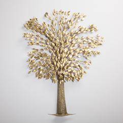 A Large Brass Tree Sculpture in the manner of Curtis Jere 1970s