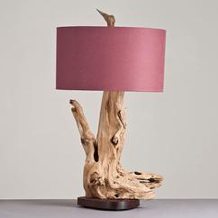 A Large Driftwood Table Lamp