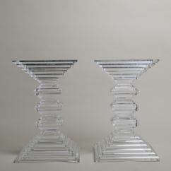 A Large Pair of Stacked Lucite Pedestal Bases 1970s