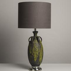 A Large Single Ceramic Lava Glazed Table Lamp 1950s