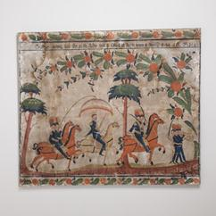 A Large Swedish Painted Panel Dated 1846