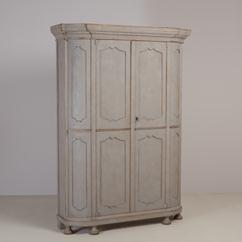 A Large late 19th Century Swedish Painted Wardrobe/Cupboard