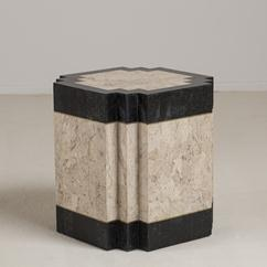 A Low Tessellated Stone Veneered Pedestal Side Table 1991