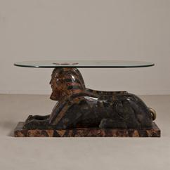 A Maitland Smith Exotic Sphinx Sculptural Table 1970s