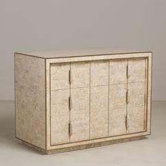 A Maitland Smith Tessellated Stone Veneered Commode 1970s