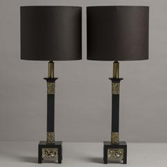A Pair of Rembrandt Classical Inspired Table Lamps 1950s