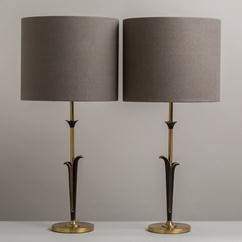A Pair of Rembrandt designed Brass Table Lamps 1950s