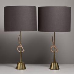 A Pair of Rembrandt designed Table Lamps USA 1960s