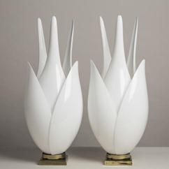 A Pair of Tall Rougier Lamps Canada late 1970s