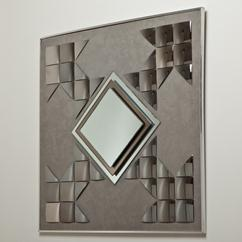 A Pop Art Style Mirrored Wall Sculpture 1970s