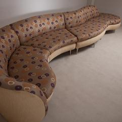 A Rare Four Part Curvy Sectional Sofa by Preview 1970/80s