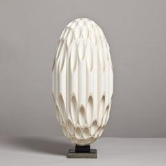 A Rare Ovoid Shaped Sculptural Lamp by Rougier Late 1970s