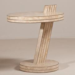 A Stone Cantilevered Side Table by Maitland Smith 1980s