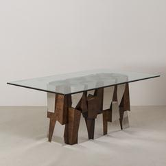 A Superb Paul Evans Faceted Dining Table Base circa 1970