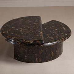 A Swivel Top Horn Coffee Table late 1970s