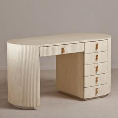 A Tessellated Bone Veneered Deco Style Vanity Table 1960s