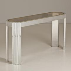 A Willy Rizzo Style Aluminium Console Table 1970s