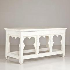 A late 19th Century Painted Oak Gothic Inspired Console Table