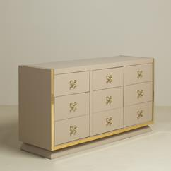 An Unique Nine Drawer Satin Lacquered Cabinet 1950s