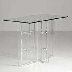 An Unusual Lucite and Nickel Plated Console 1970s
