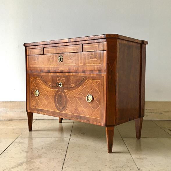 18th Century Swedish Chest of Drawers with Greek Key Detail