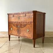18th Century Swedish Chest of Drawers with Greek Key Detail main image