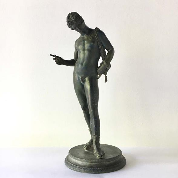 A 19th Century Italian Bronze Figure of Narcissus
