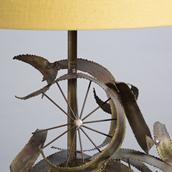 A Brass Brutalist Sculptural Table Lamp Attributed to Curtis Jere, 1970s Alternate image