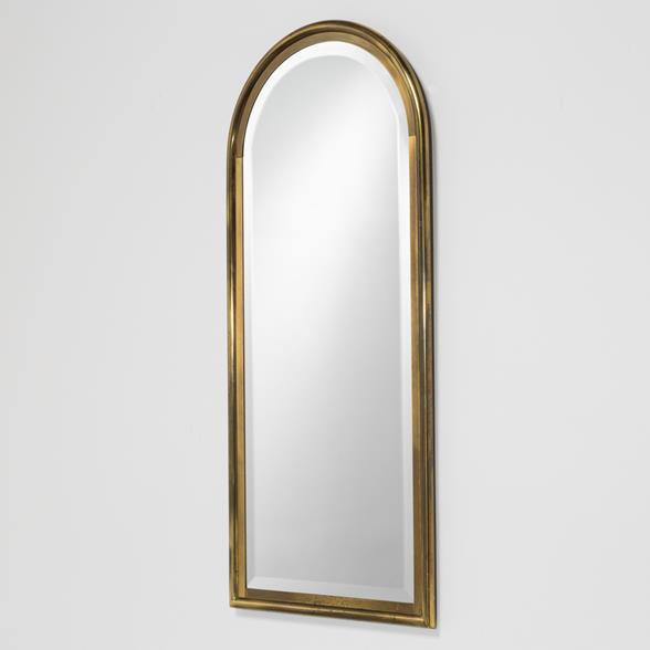 A Brass Framed Mastercraft designed Mirror 1970s