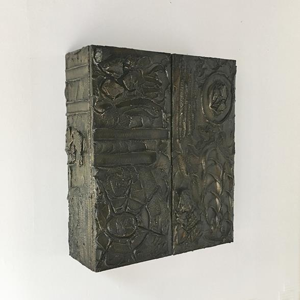 A Bronzed Resin Paul Evans designed Wall Hung Cabinet 1970