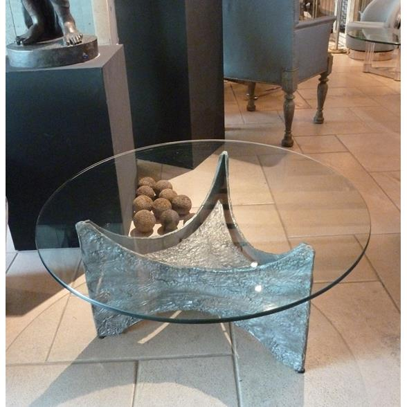 A Brutalist Gilded Aluminium Coffee Table Belgium 1960s