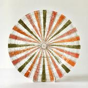 A Castilian Patterned Fused Glass Bowl by Higgins  main image