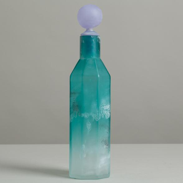 A Cenedese designed Scavo Glass Decanter with Stopper