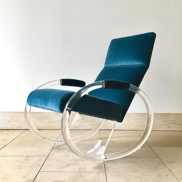 A Charles Hollis Jones designed Lucite Rocking Chair 1970s