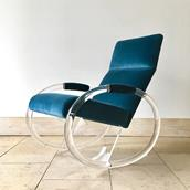 A Charles Hollis Jones designed Lucite Rocking Chair 1970s main image