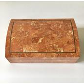 A Coral Stone Veneered Box by Maitland Smith 1980s Alternate image