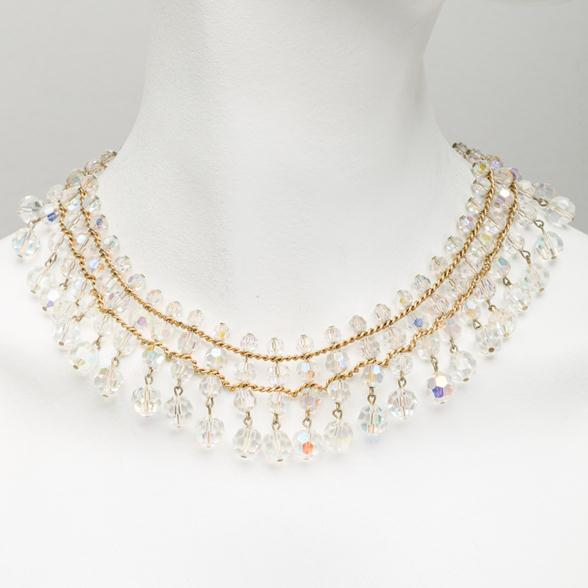 A Crystal Drop Collar Necklace by Hattie Carnegie