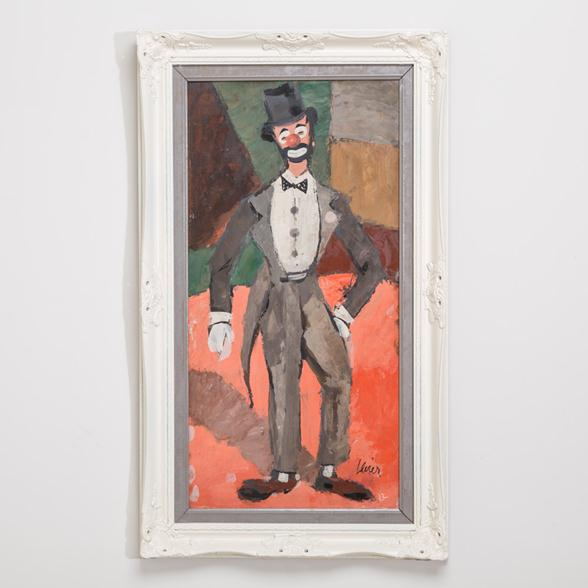 A Cubist Inspired Clown Painting by Charles Levier