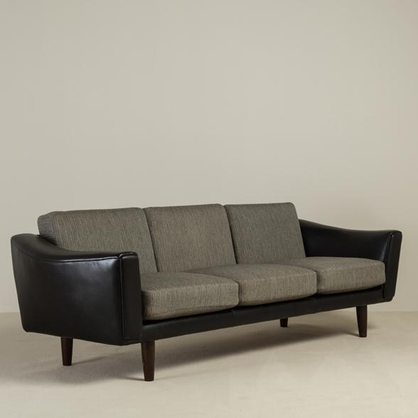 A Danish Three Seater Sofa by Illum Wikkelsoe 1960s