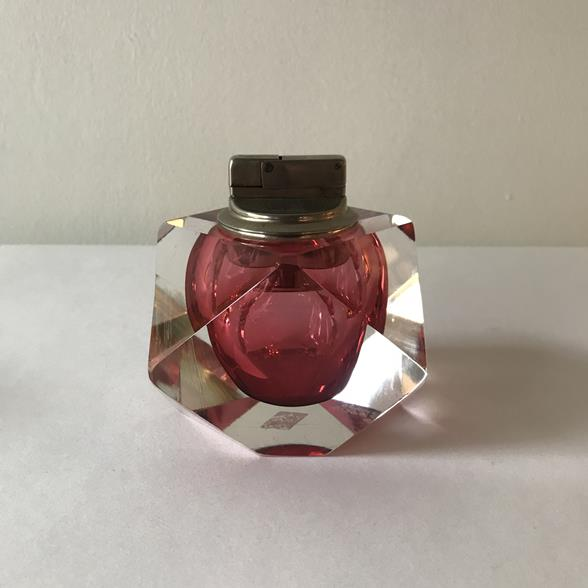 A Facet Cut Murano Sommerso Glass Lighter
