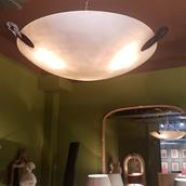 A Faux Alabaster Hanging Light Fitting ca 1960 main image