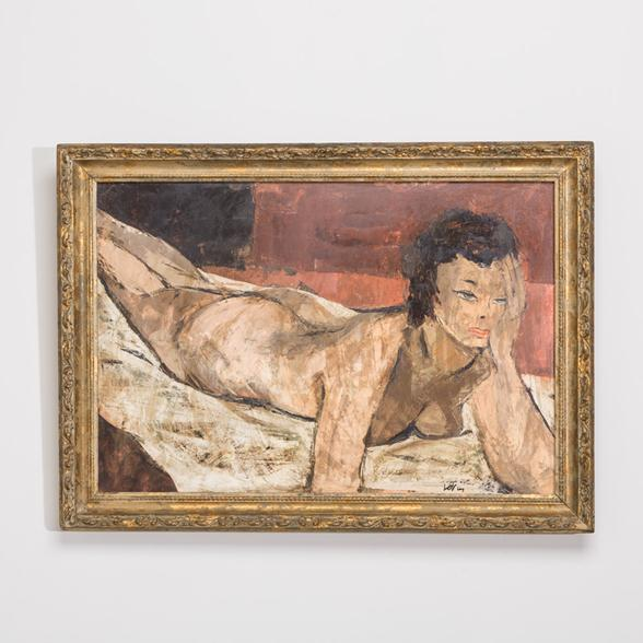 A Female Nude Modernist Painting by Charles Levier