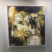 A Framed Abstract Oil Painting 1960s signed  Alternate image